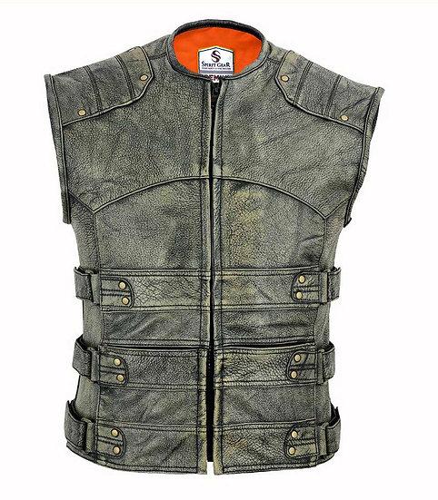 Sturdy leather vest