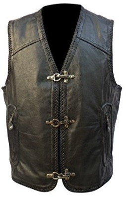 GAS LEATHER VEST