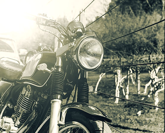 old retro style motorcycle with vintage