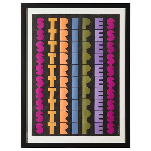 Ruth Jacoby Collage Stripes Signed