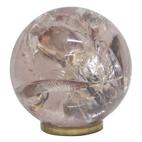 Fractured Resin Sphere, Brass Base