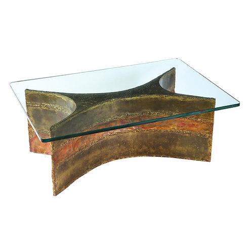 Silas Seandel Coffee Table, Copper, Bronze and Brass