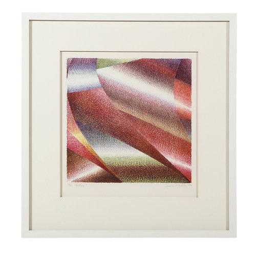 Samia Halaby Cleveland by Samia Halaby Lithograph Abstract Signed 1974