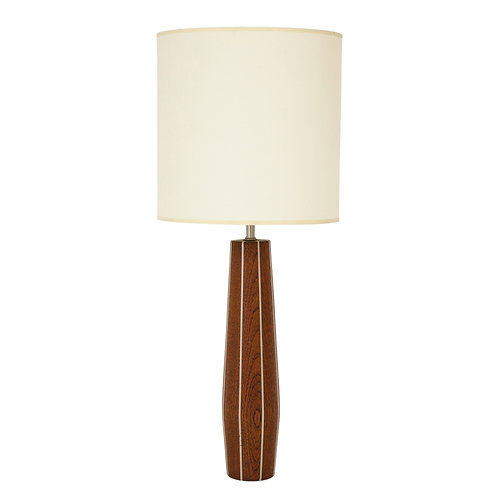 Paul Evans and Phillip Lloyd Powell Table Lamp, Walnut and Pewter