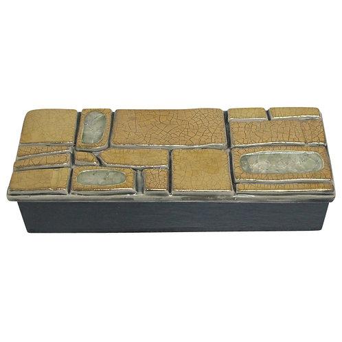 Mithé Espelt Box, Gold, Ceramic, Jeweled