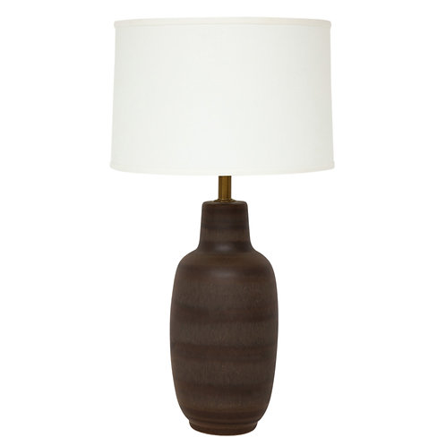 Design Technics Lamp, Pottery, Earth Tones and Brown Stripes