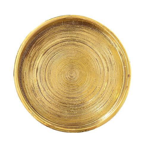 Bitossi Bowl, Ceramic, Brushed Metallic Gold