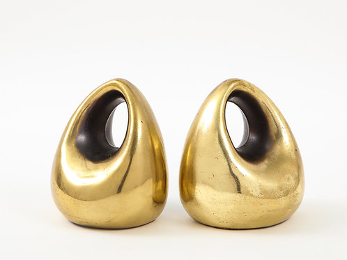 Ben Seibel Bookends, Brass Orb