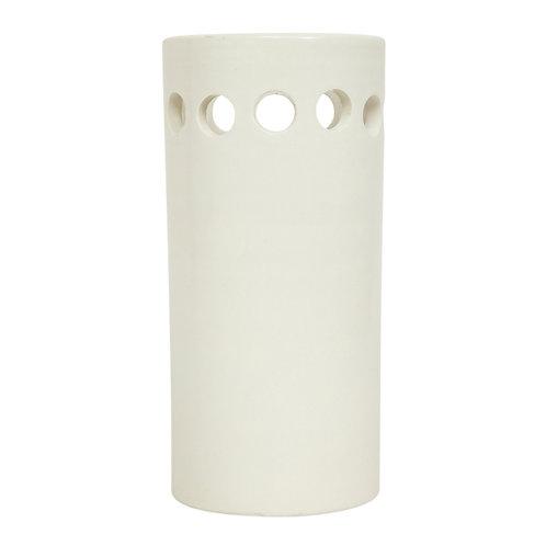 Rosenthal Netter Bitossi Vase, Ceramic, White, Perforated, Signed