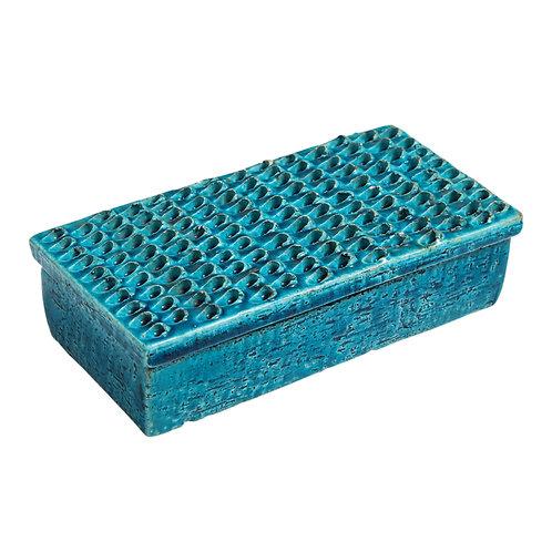 Bitossi Box Ceramic Blue Signed