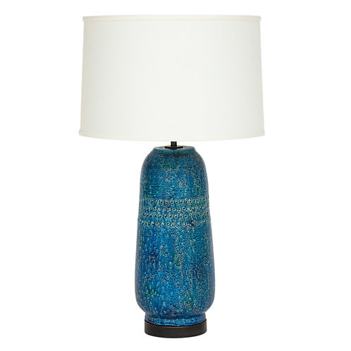 Bitossi Lamp, Ceramic, Cinese Blue, Signed