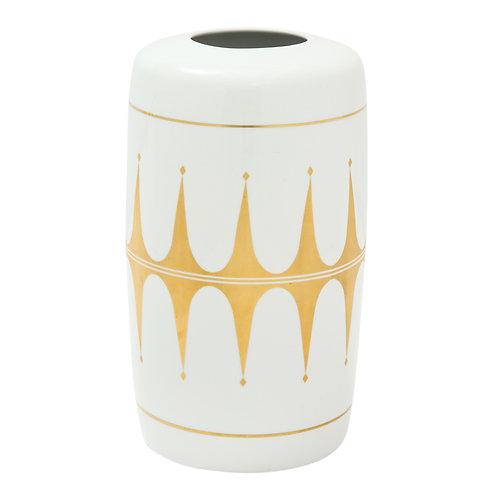 Hutschenreuther Vase Gold White Porcelain Signed