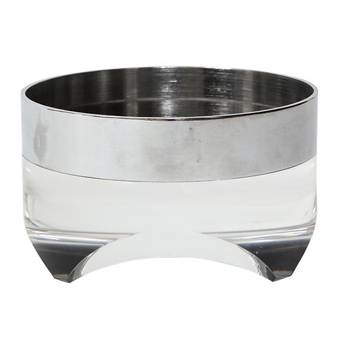 Pace Bowl, Lucite and Chromed Steel