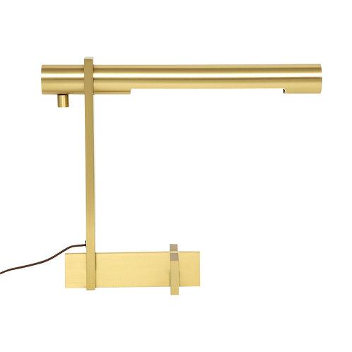 Casella Desk Lamp, Brass, Cantilevered, Signed