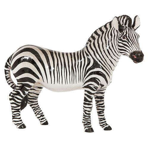 Manlio Trucco Zebra, Ceramic, Black and White, Signed