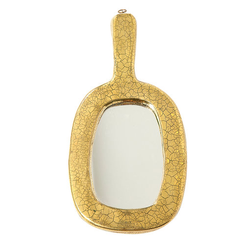 Francois Lembo Mirror, Ceramic, Gold