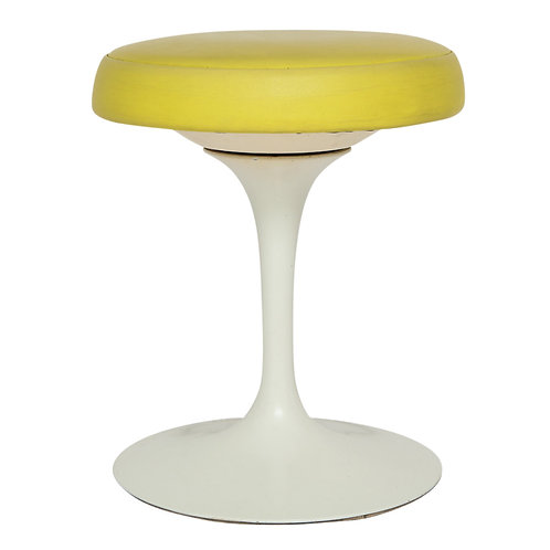 Knoll Saarinen Stool Swivel Yellow Signed USA 1970's