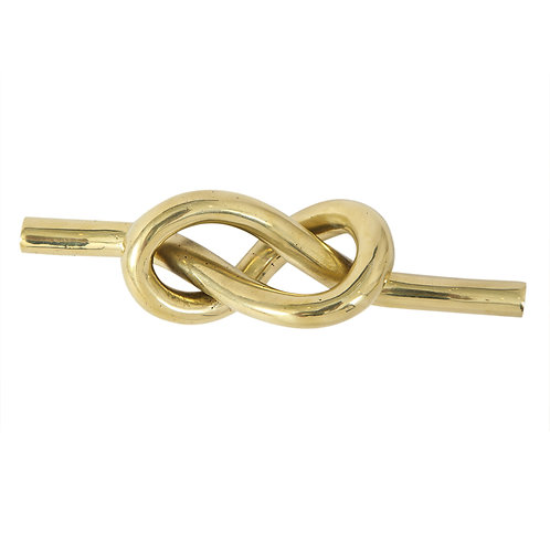 Dunhill Paperweight, Brass Knot, Signed