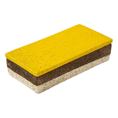 Aldo Londi Bitossi Box, Yellow, Brown and White