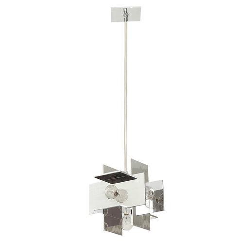 Paul Mayen Multi-Reflector Pendant Lamp, Polished Aluminum