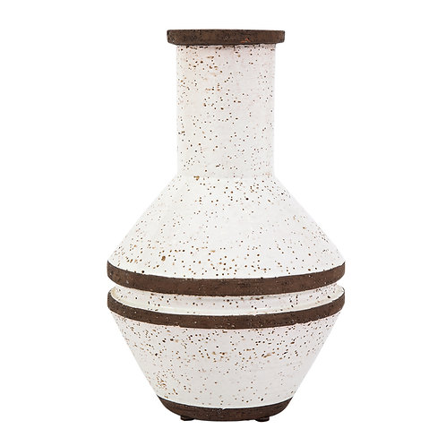 Bitossi Rosenthal Netter Vase, White and Brown, Signed