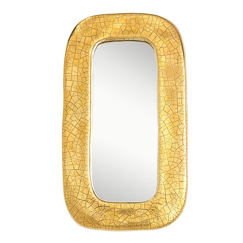 François Lembo Mirror, Ceramic Gold