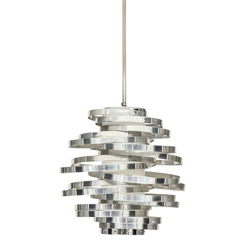Cyclone Pendant Lamp, Chrome Silver, Aluminum