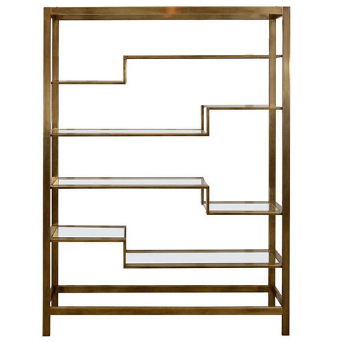 Brushed Brass Etagere by Baker