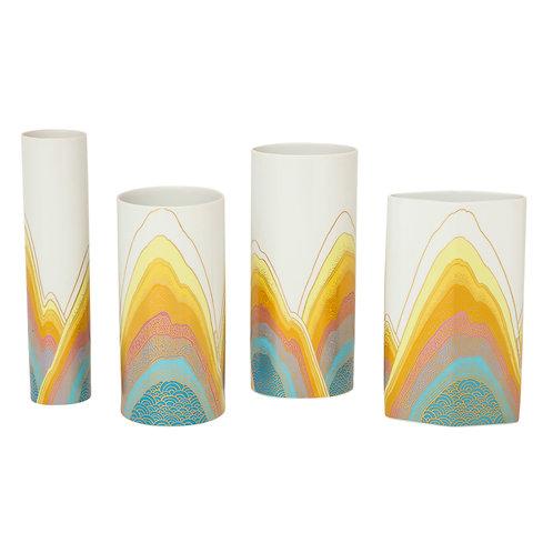 Rosamonde Nairac Rosenthal Studio Line Vases, Porcelain, Signed