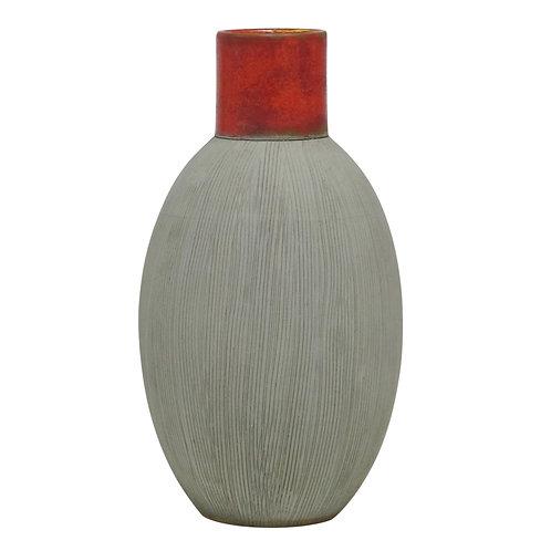 Incised Italian Ceramic Vase For Raymor
