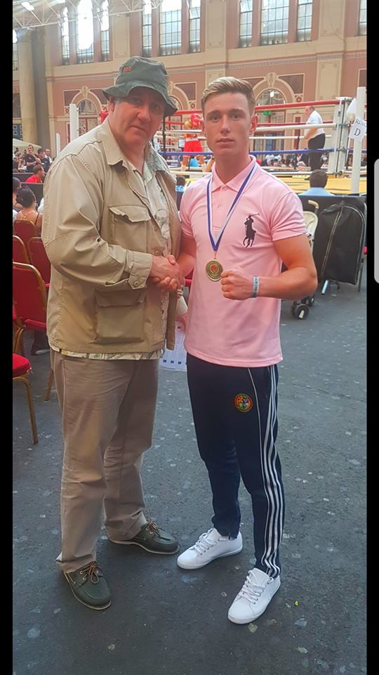 Paddy Donovan with Boxing pundit Steve Bunce