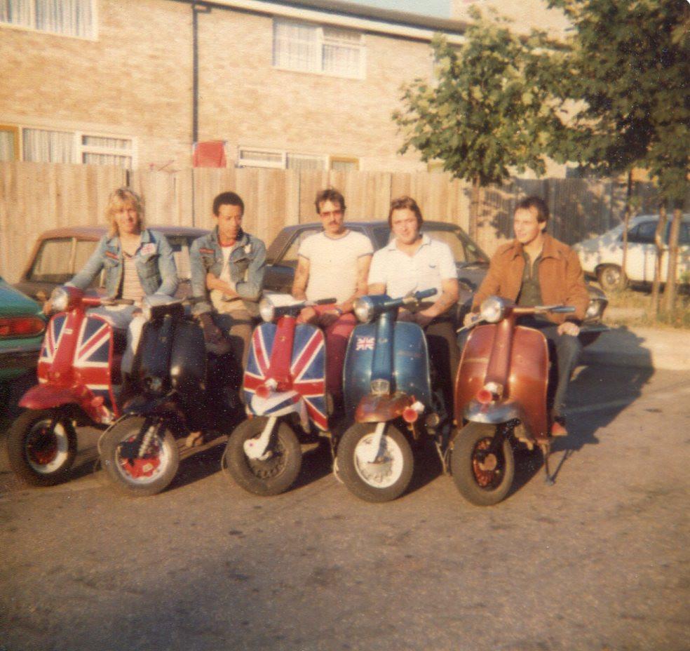 The famous five: Tony Jex, Marlon John, Mark Scarrret, and Paul Gardnert
