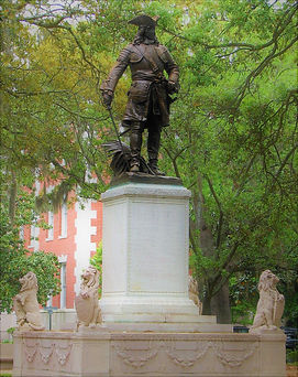 James Edward Ogelthorpe Statue Savannah Georgia