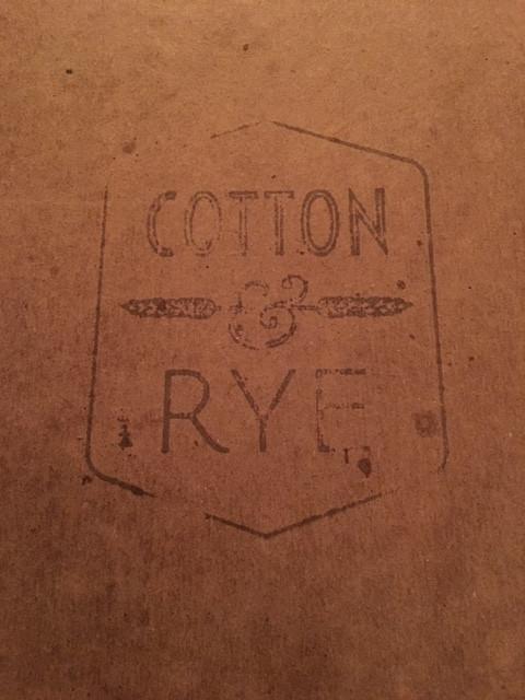 Cotton & Rye Menu