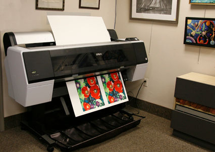 epson 9900 printer making a print