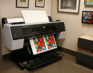Epson 9900 printer making a Giclée print