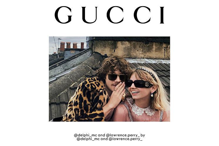 Couple avec lunettes de soleil Gucci