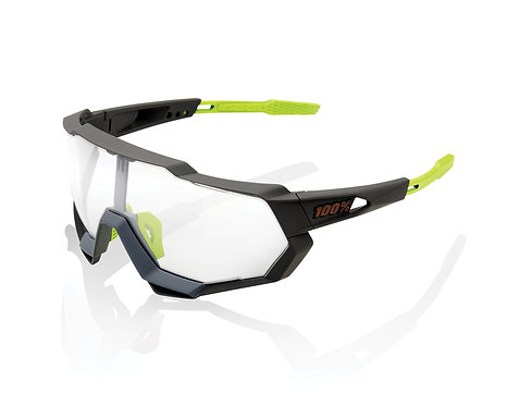 100% Speedtrap Soft Tact Cool Grey Photochromic