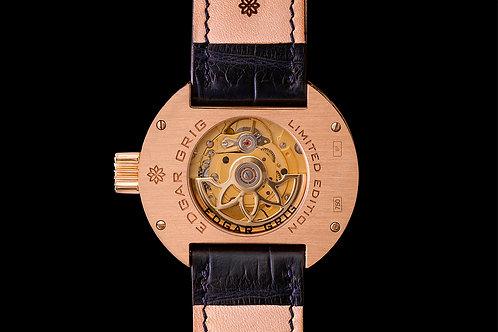 Diamantové hodinky EDGAR GRIG z růžového zlata s logem