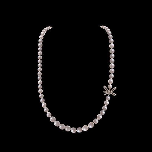 Náhrdelník MOON s diamanty a perly