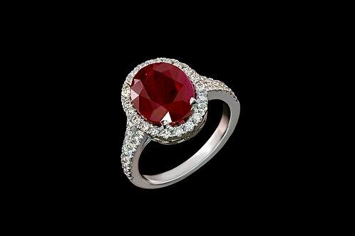 Prsten SEN s rubínem a diamanty