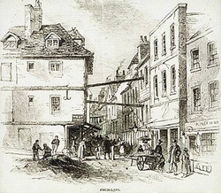 Old etching of Field Lane