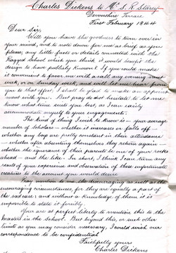 Letter 1 Charles Dickens