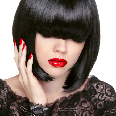 Woman with a black bob