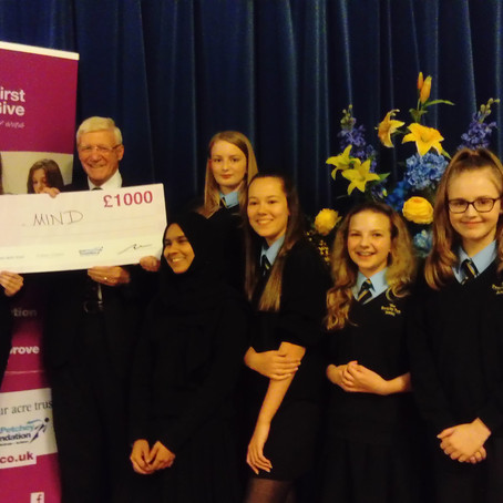 YEAR 9 STUDENTS WIN £1,000 DONATION FOR SECE MIND