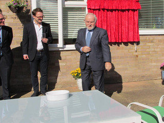 Sir Richard Stilgoe opens our Frimley project