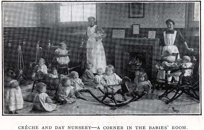 Old etching - nursery