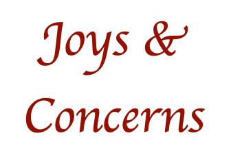 [March 2021] Centenary's Joys and Concerns