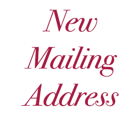 [January 2021] Announcement: New Mailing Address