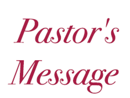 [May 2021] Pastor's Message